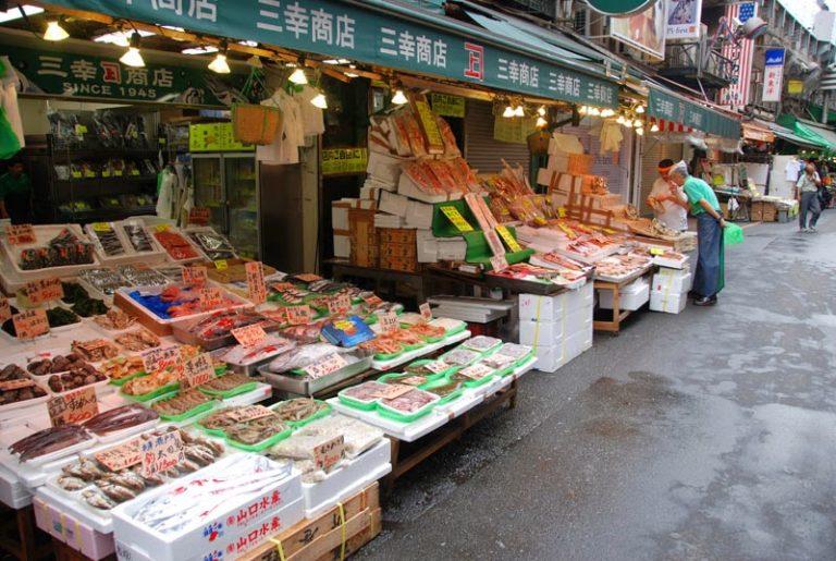 mercato del pesce di Ueno