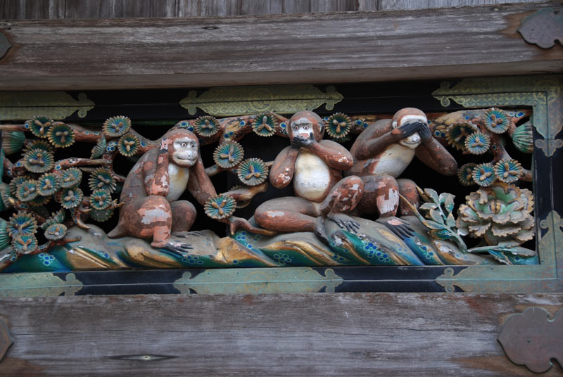 le tre scimmiette sacre