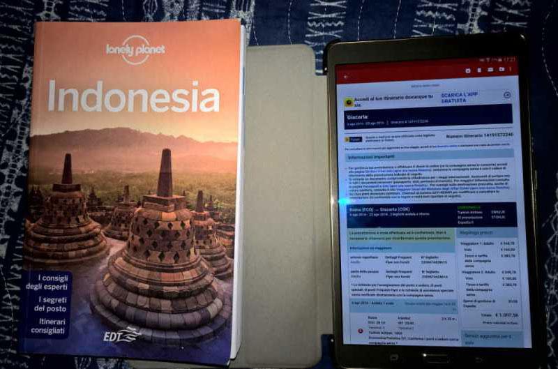 guida di viaggio e biglietti elettronici