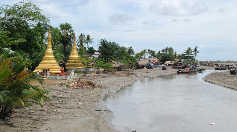 La campagna birmana vista dalla strada
