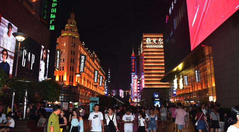 Bagno di folla a Shanghai