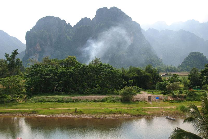 La campagna di Vang Vieng