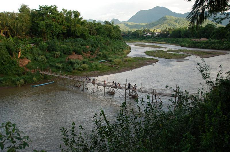 Un affluente del Mekong a Luang Prapang
