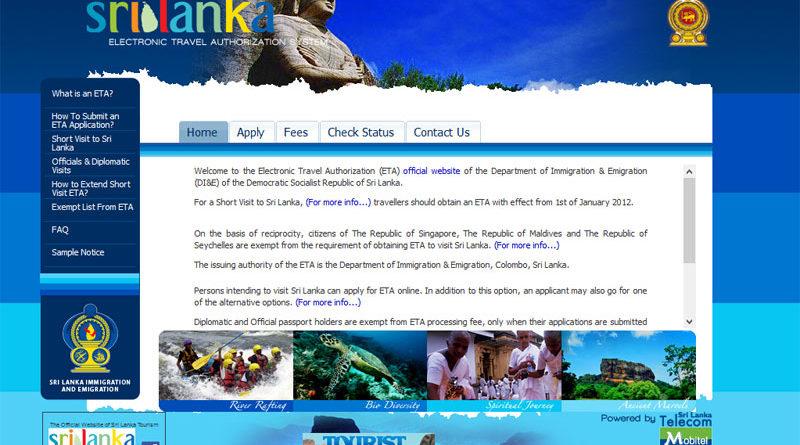 Visto per lo Sri Lanka