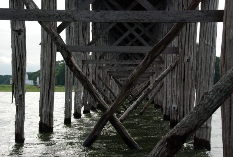 La struttura di sostegno del ponte