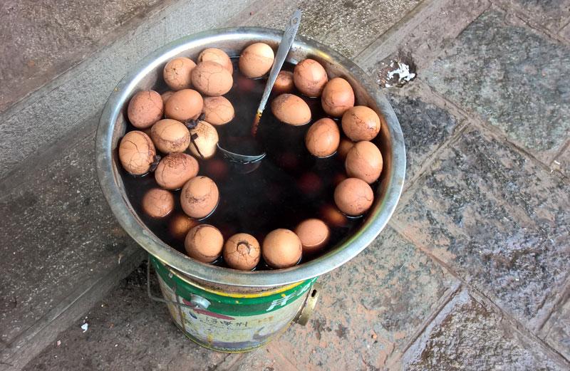 uova cotte nella soya