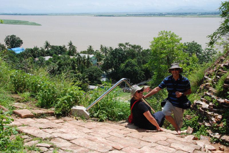 La vetta dello stupa di Mingun