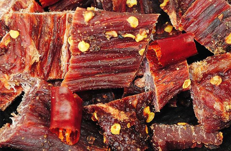 la carne secca di yak