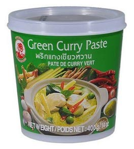 pasta di curry verde