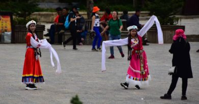 indossare costumi etnici
