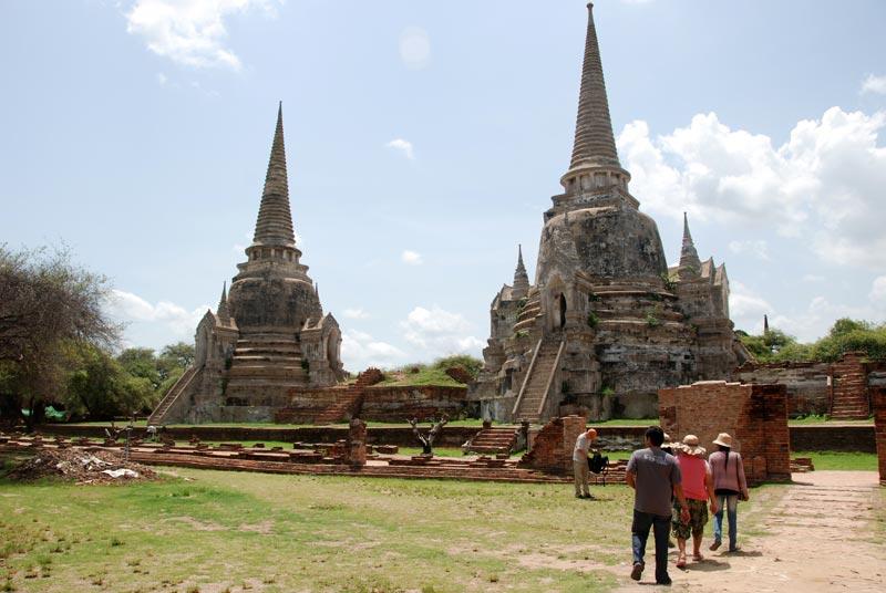 Due degli stupa meglio conservati di Ayutthaya