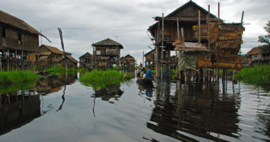 Le case su palafitte del lago Inle