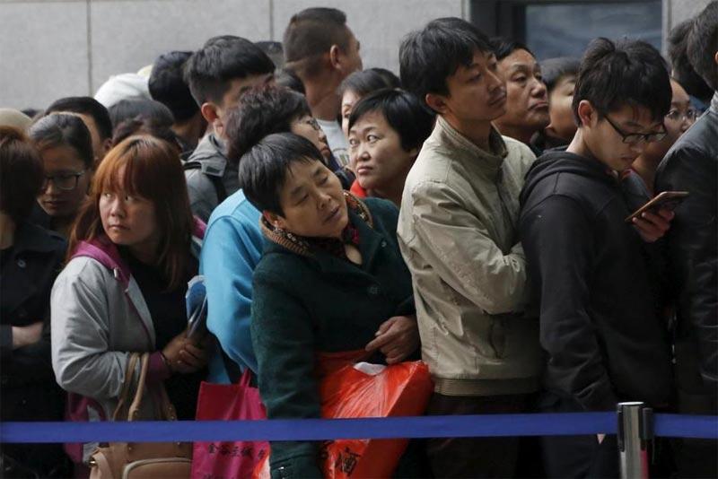 I cinesi e le file