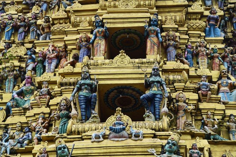 L'esterno del tempio di Matale