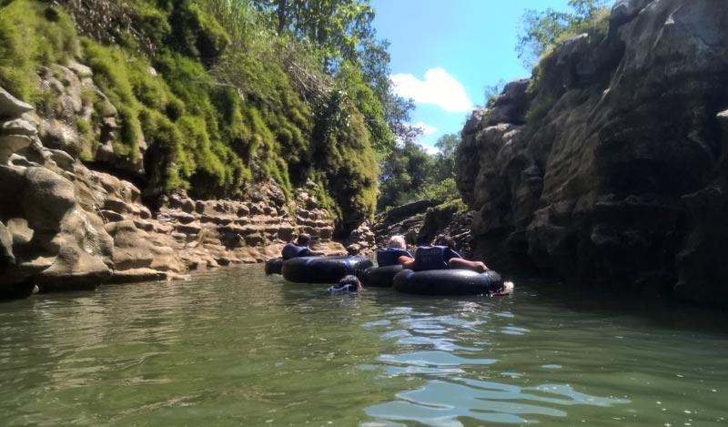 Tubing sul fiume Oya