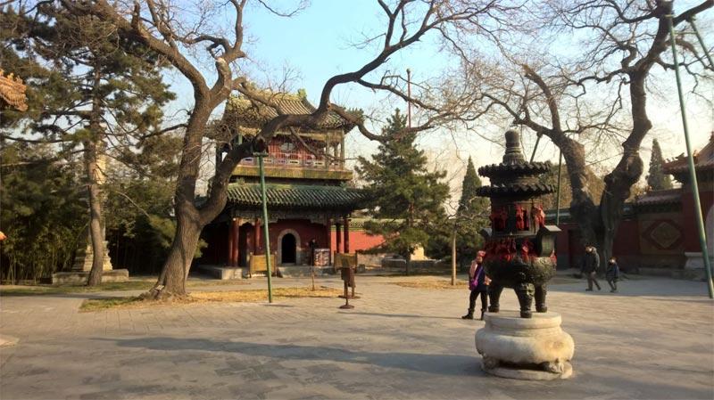 Il cortile interno di un tempio confuciano al Beihai Park