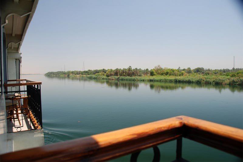 Il Nilo visto dalla nave