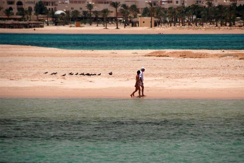 Una secca in mezzo al Mar Rosso