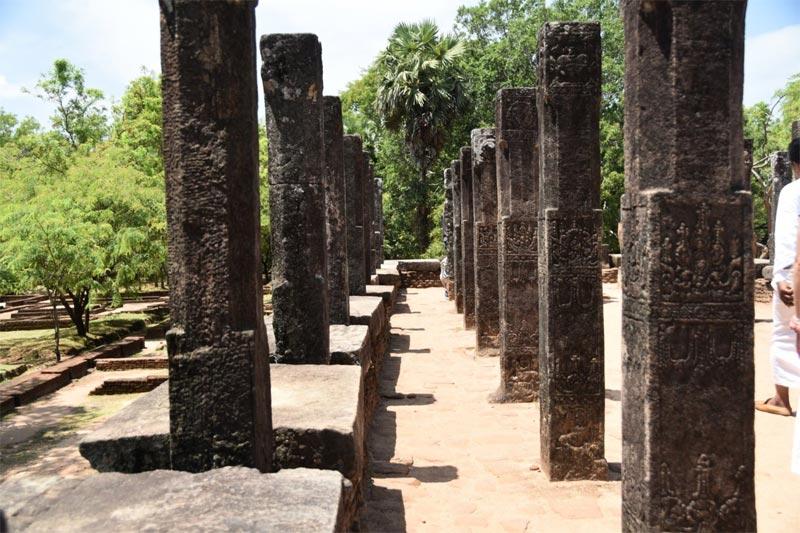 L'interno della Sale delle udienze a Polonnaruwa