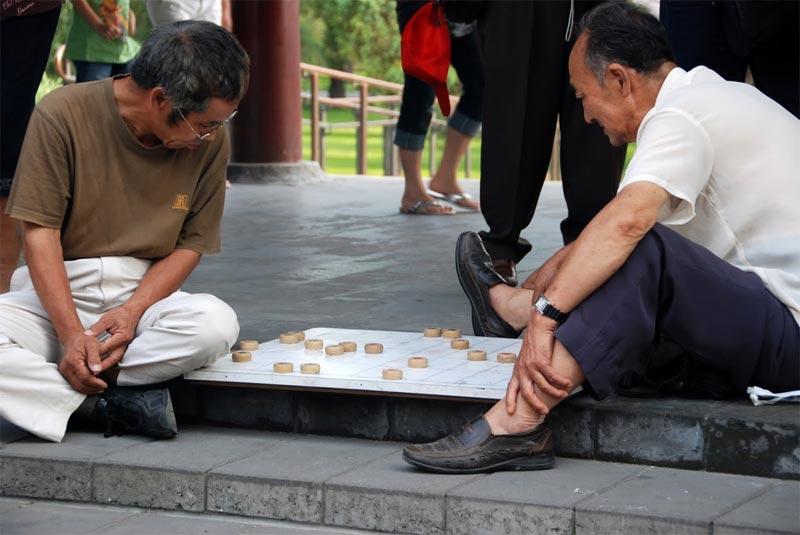 Alcuni giocatori di dama cinese