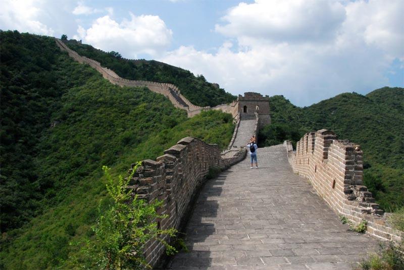 Uno dei tratti meglio conservati della Grande Muraglia Cinese