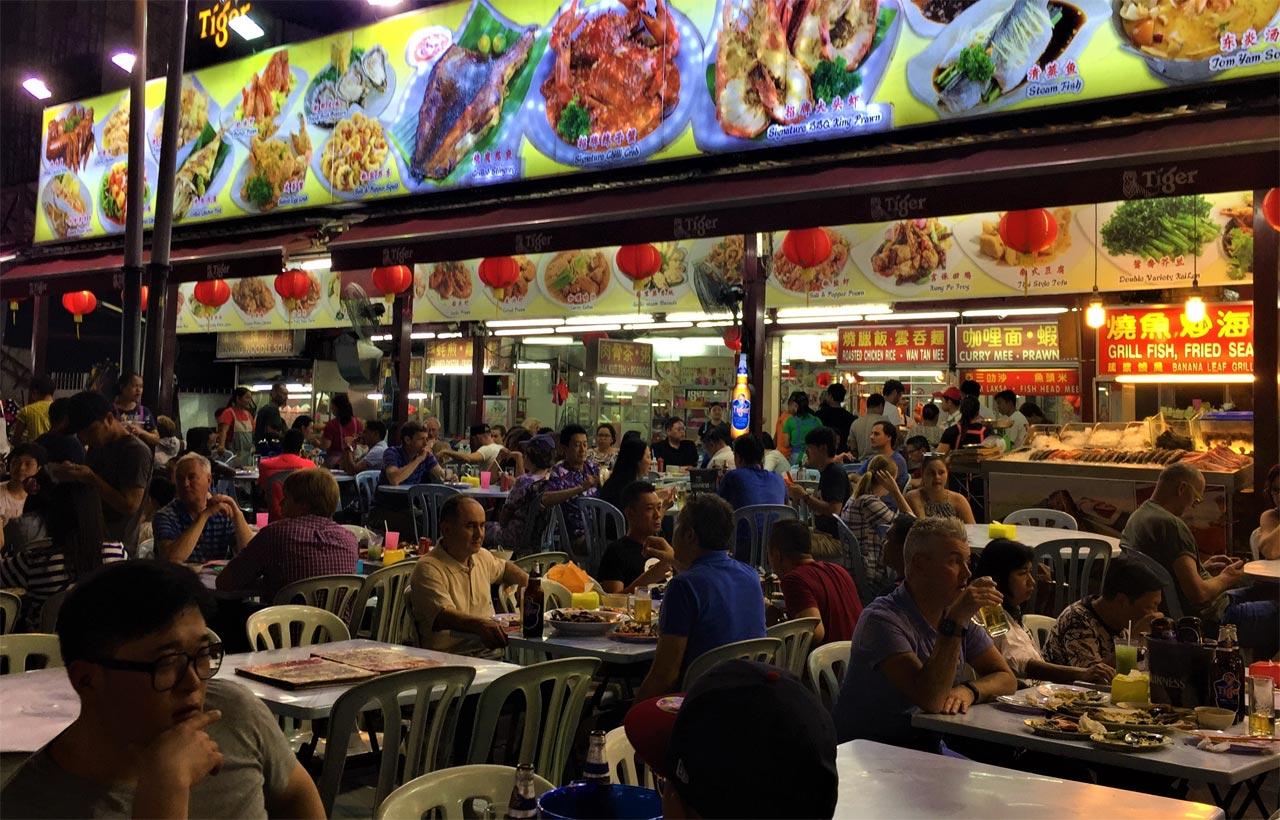 food corner di Penang
